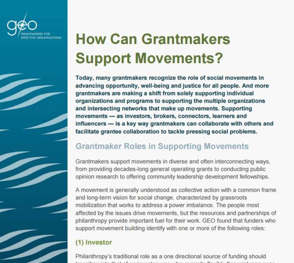 role of social and grassroots movements
