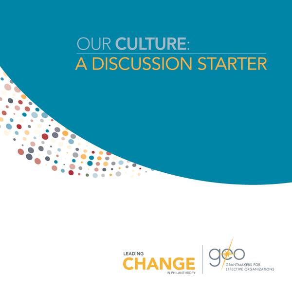 "The cover for ""Our Culture: A Discussion Starter."""