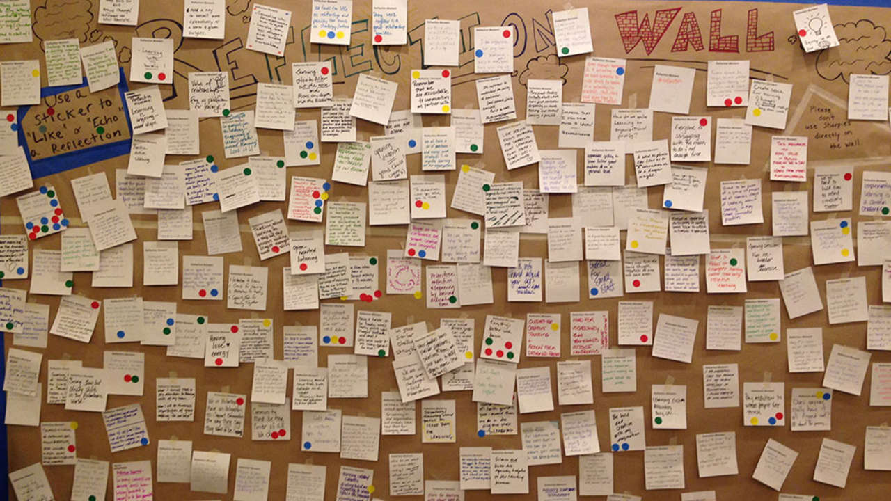 Reflection wall at The Learning Conference 2015.