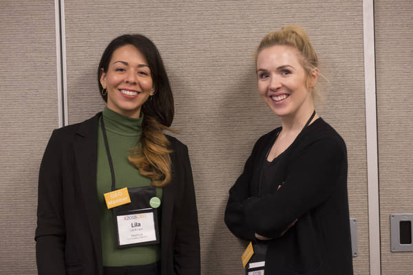 Two 2018 National Conference speakers at a breakout session