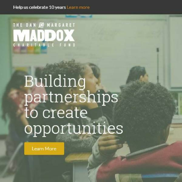 This is a screen capture of the new Maddox website.