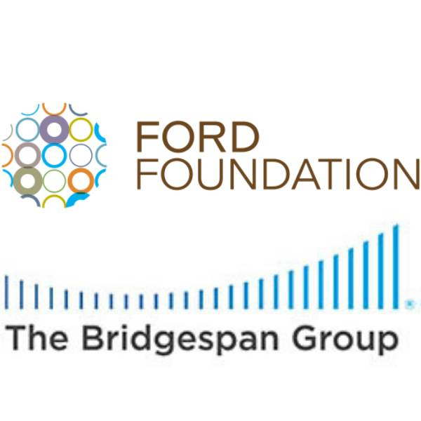 The Ford Foundation and Bridgespan Group logos.